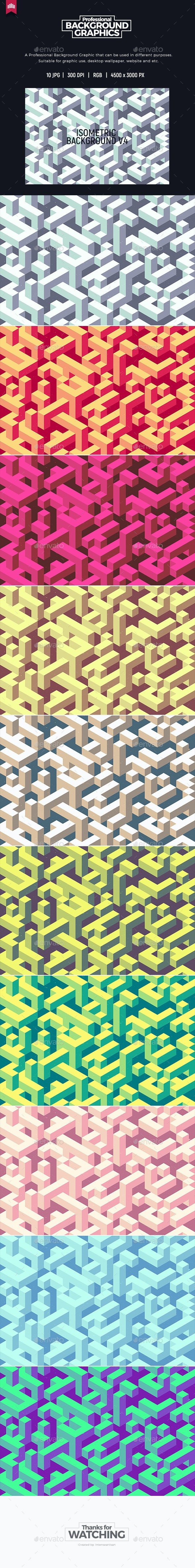 Isometric Background V.4 - Abstract Backgrounds