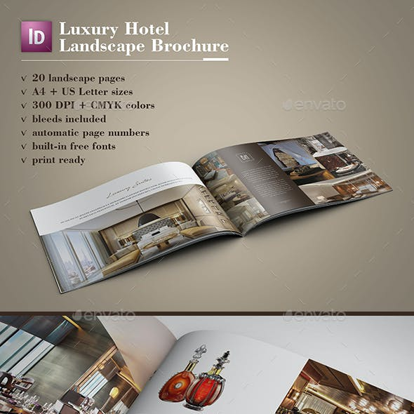 Luxury Hotel Landscape Brochure