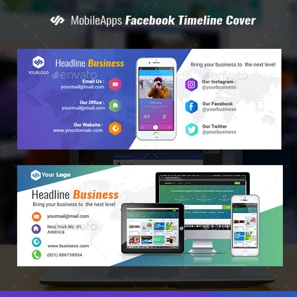 Mobile Apps Facebook Cover Timeline