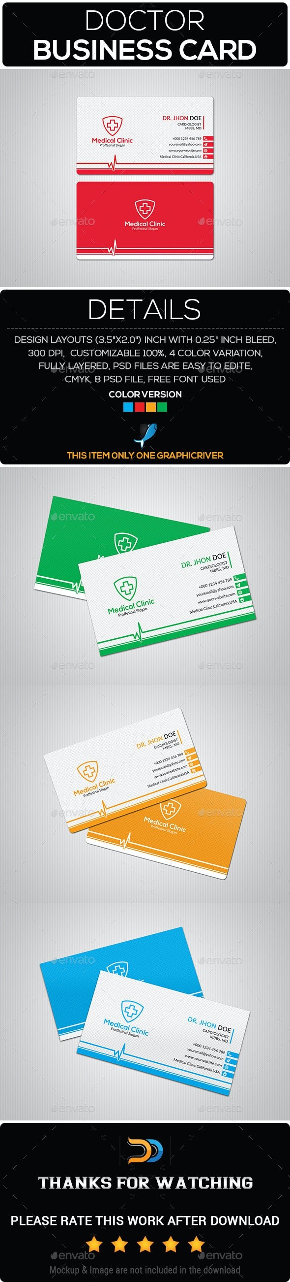 Doctor Business Card - Business Cards Print Templates