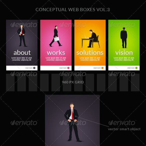 Web Box or Banner Templates 3