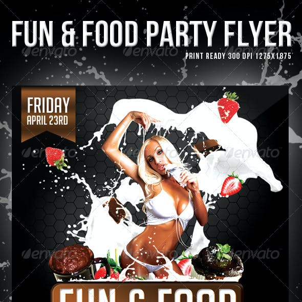 Fun & Food Party Flyer / Template