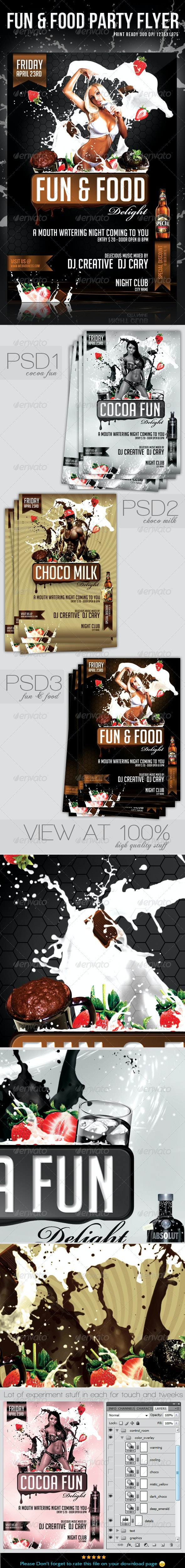 Fun & Food Party Flyer / Template - Flyers Print Templates
