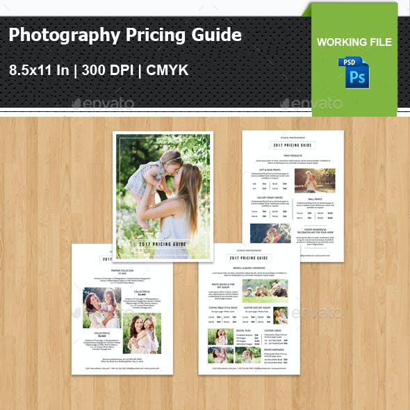 Photography Pricing Guide Template V13