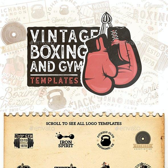 20 Vintage Boxing & Gym Badges