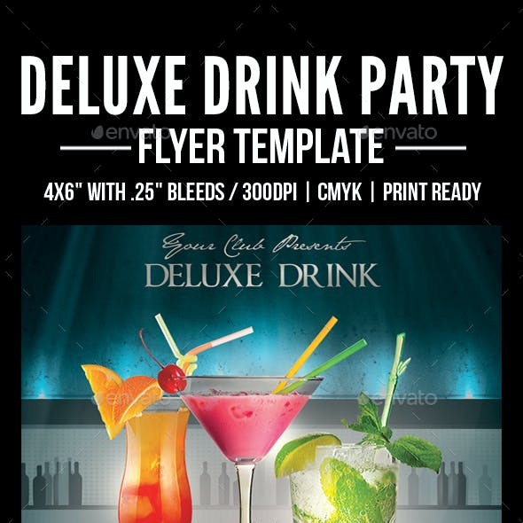 Deluxe Drink Party Flyer