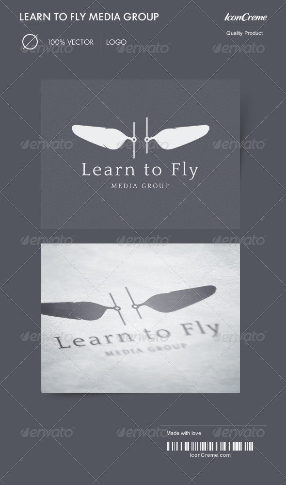 Learn to Fly Media Group Logo - Crests Logo Templates