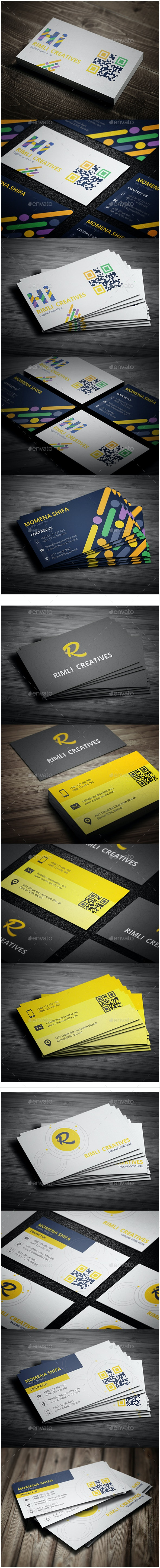 3 in 1 Sleek Business Cards Bundle - Creative Business Cards
