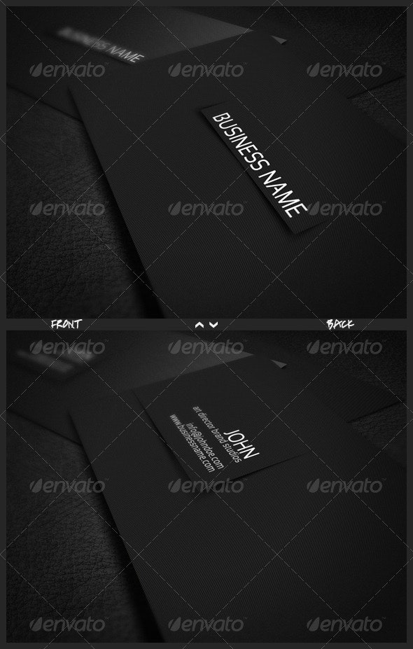 Soft Line Business Card - Corporate Business Cards