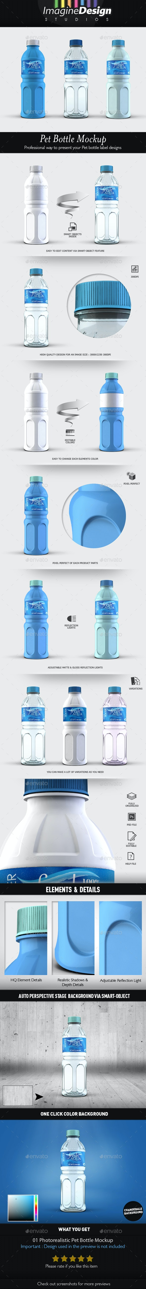 Pet Bottle Mockup - Food and Drink Packaging