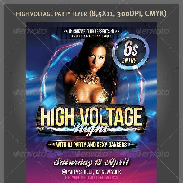 High Voltage Party Flyer