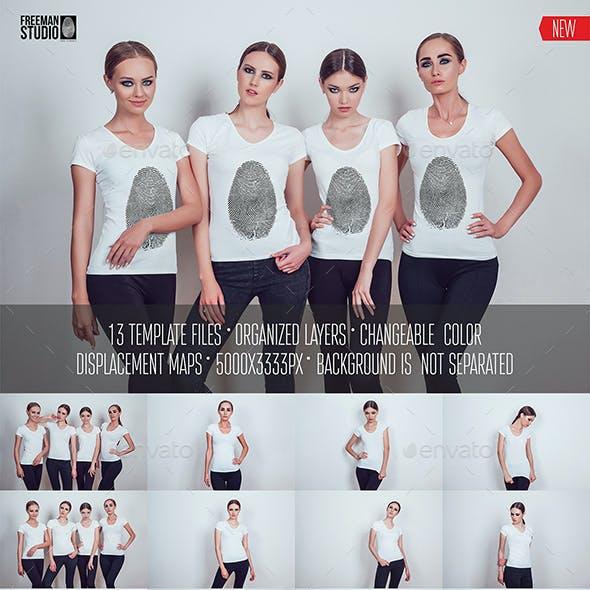 Women's T-Shirt Mock-Up Vol.1 2017