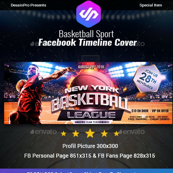 Basketball Facebook Cover Timeline