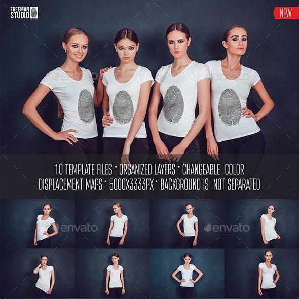 Women's T-Shirt Mock-Up Vol.2 2017
