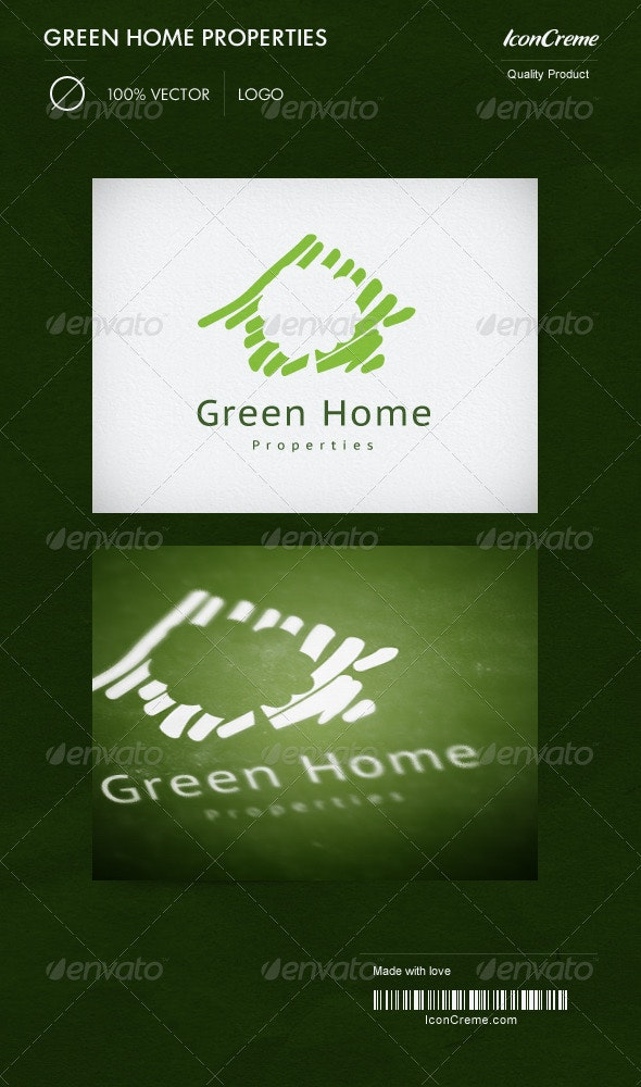 Green Home Properties Logo - Nature Logo Templates