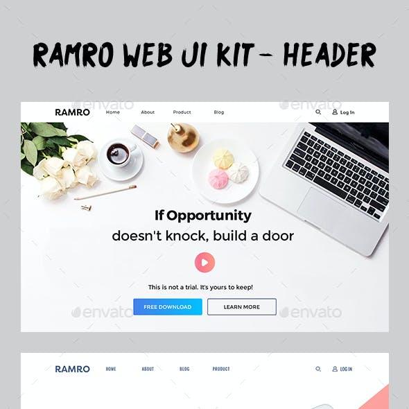 Ramro Web UI Kit - Header