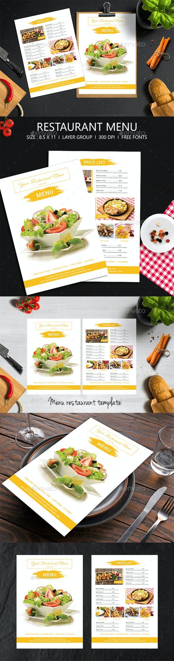 Restaurant Menu - Restaurant Flyers