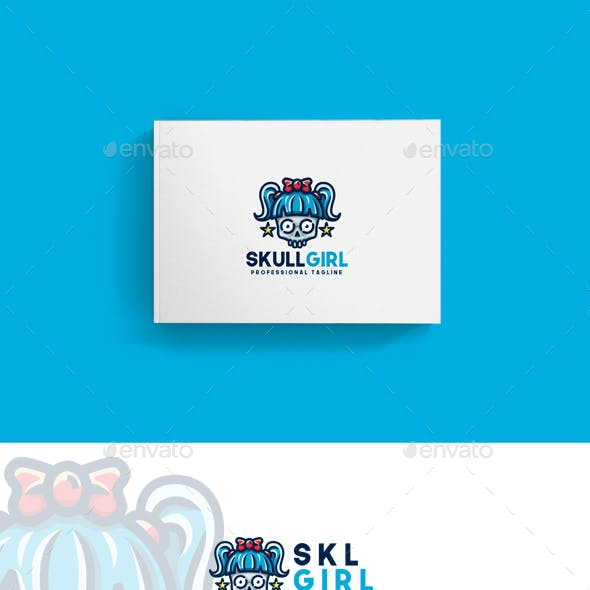 Skull Girl Logo