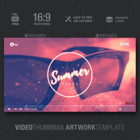 Summer Vibes - Music Video Thumbnail Artwork Template