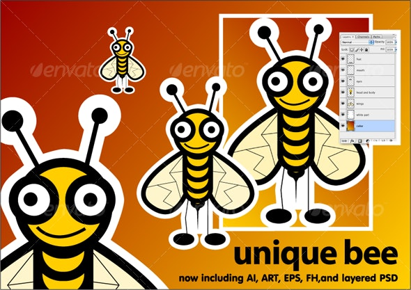 Unique Bee - Animals Characters