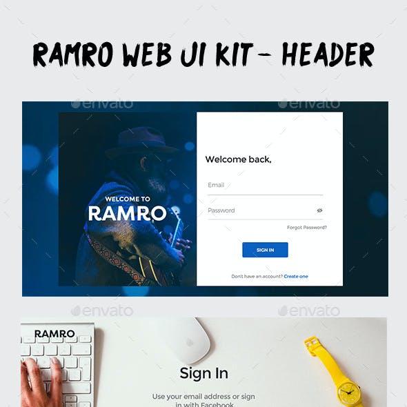 Ramro Web UI Kit - Login/Signups