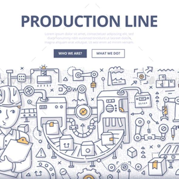 Production Line Doodle Concept