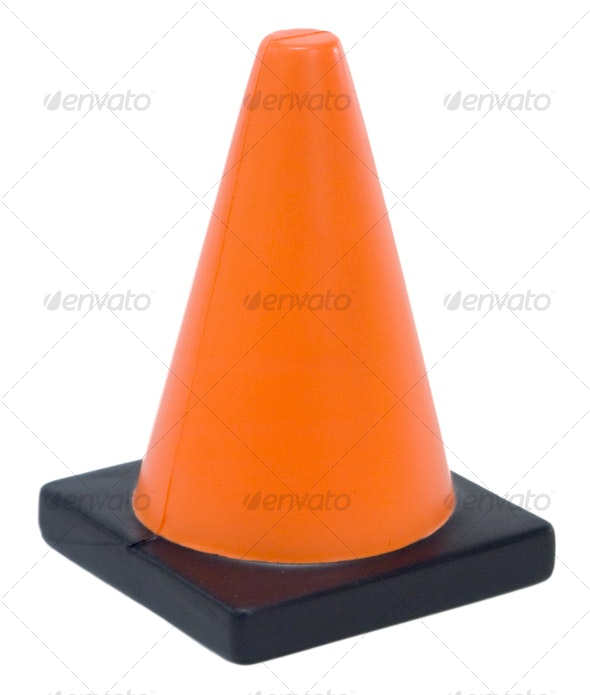 Construction Cone - Industrial & Science Isolated Objects