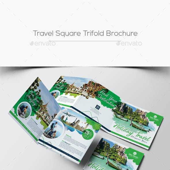 Travel Square Trifold Brochure