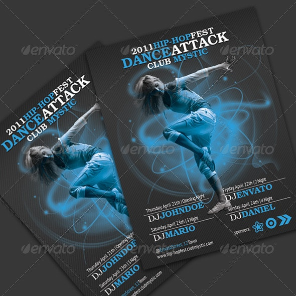 Hip-Hop Party Flyer - Clubs & Parties Events
