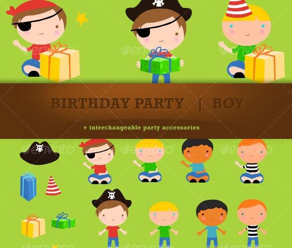 Birthday Boy - People Characters