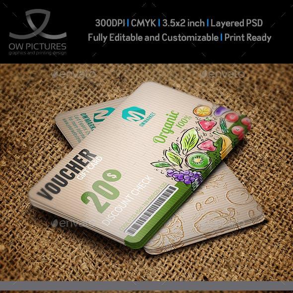 Gift Voucher Card Template Vol.25