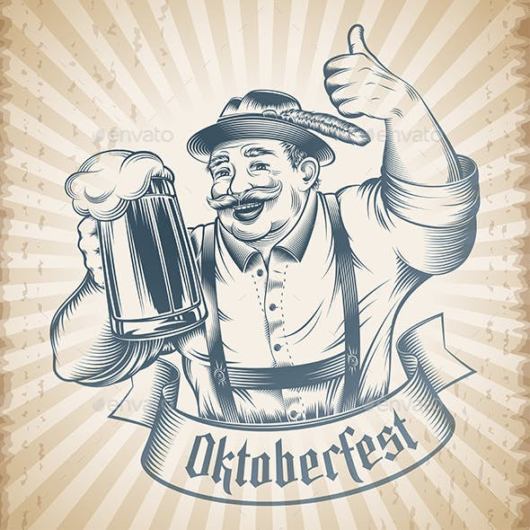Oktoberfest Beer Holiday Man