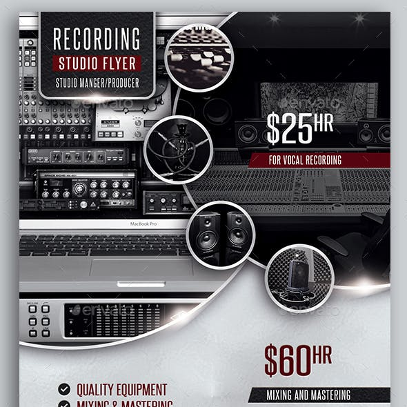 Recording Studio / Music Studio Flyer