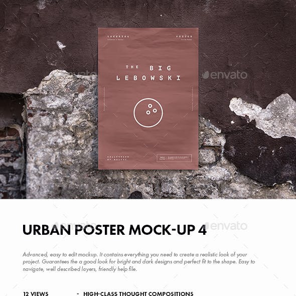 Urban Poster Mock-up 4