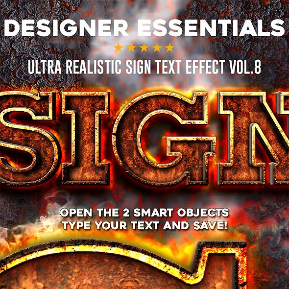 Designer Essentials Ultra Realistic Text Effect Vol.8