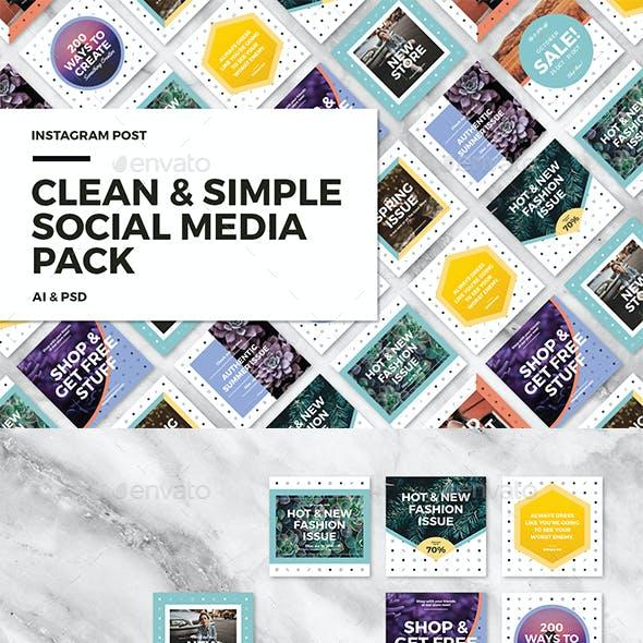 Clean & Simple - Social Media Pack