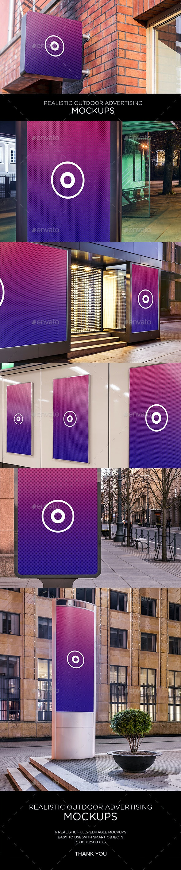 HQ Realistic Outdoor Advertising Mockup - Graphics