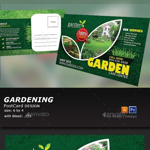 Garden Landscape Postcard