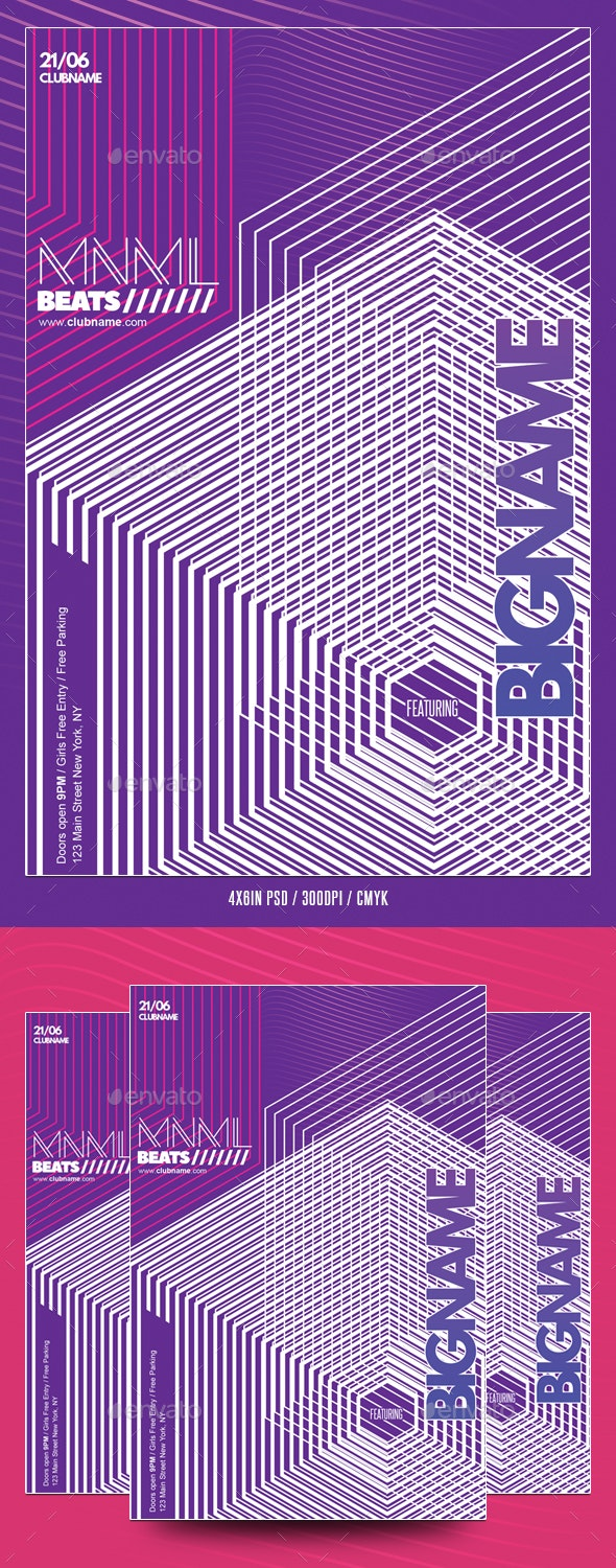 Abstract Geometric Party Flyer - Events Flyers