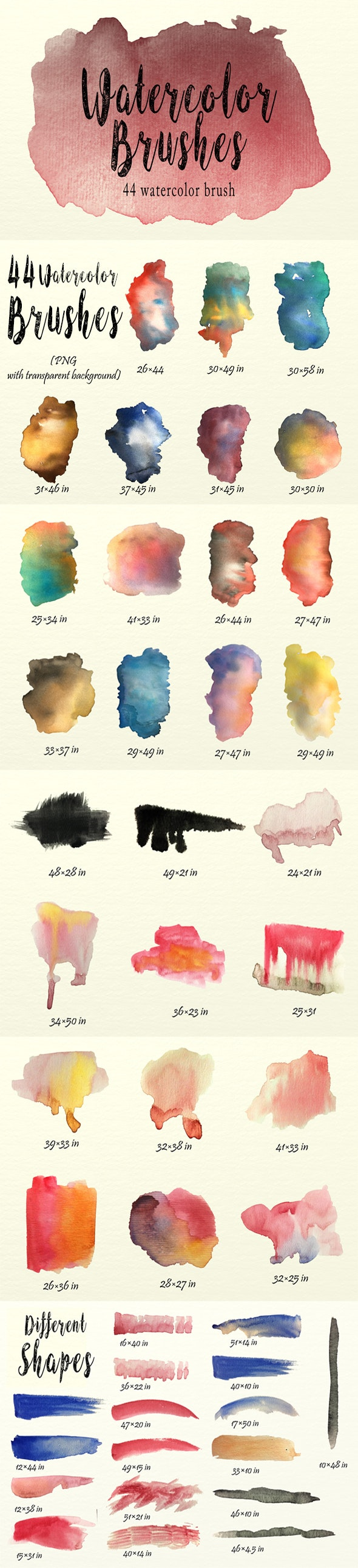Watercolor Brushes Pack - Brushes Photoshop