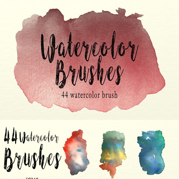 Watercolor Brushes Pack