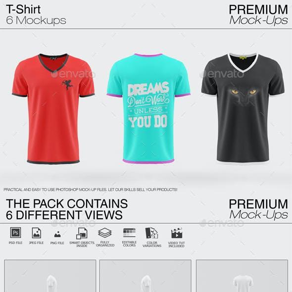 V- Neck T-Shirt Mockup Pack