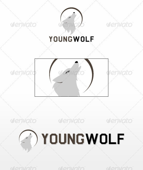 Young Wolf - Animals Logo Templates
