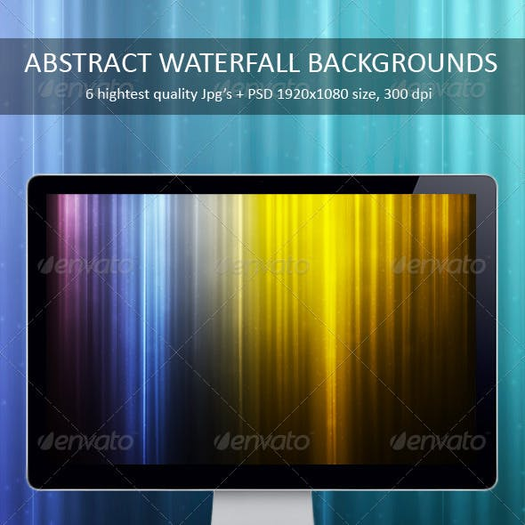 Abstract Waterfall Backgrounds