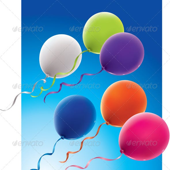 Six Color Balloons
