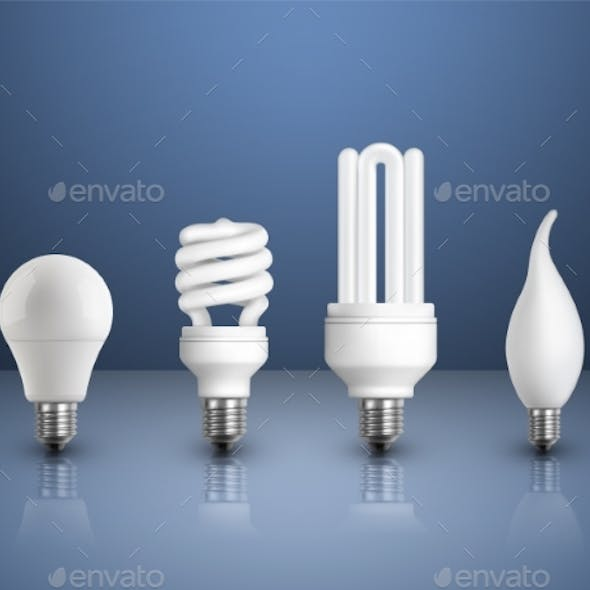 Realistic Modern Bulbs Collection