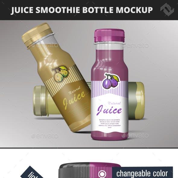 Smoothie Bottle Juice Mockup