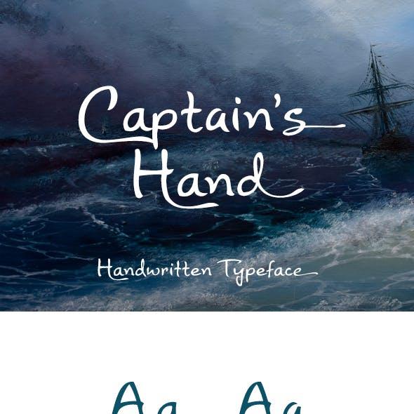 Captain's Hand Font