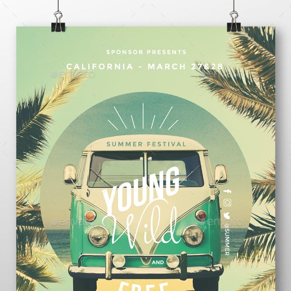 Young Wild and Free - Summer Flyer