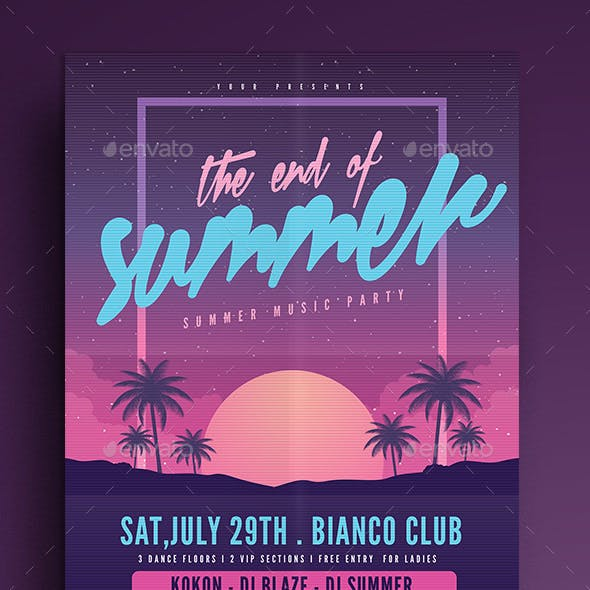 The End of Summer Party Flyer